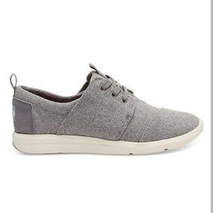 Grey Felt Suede Del Rey Sneakers - Size 7